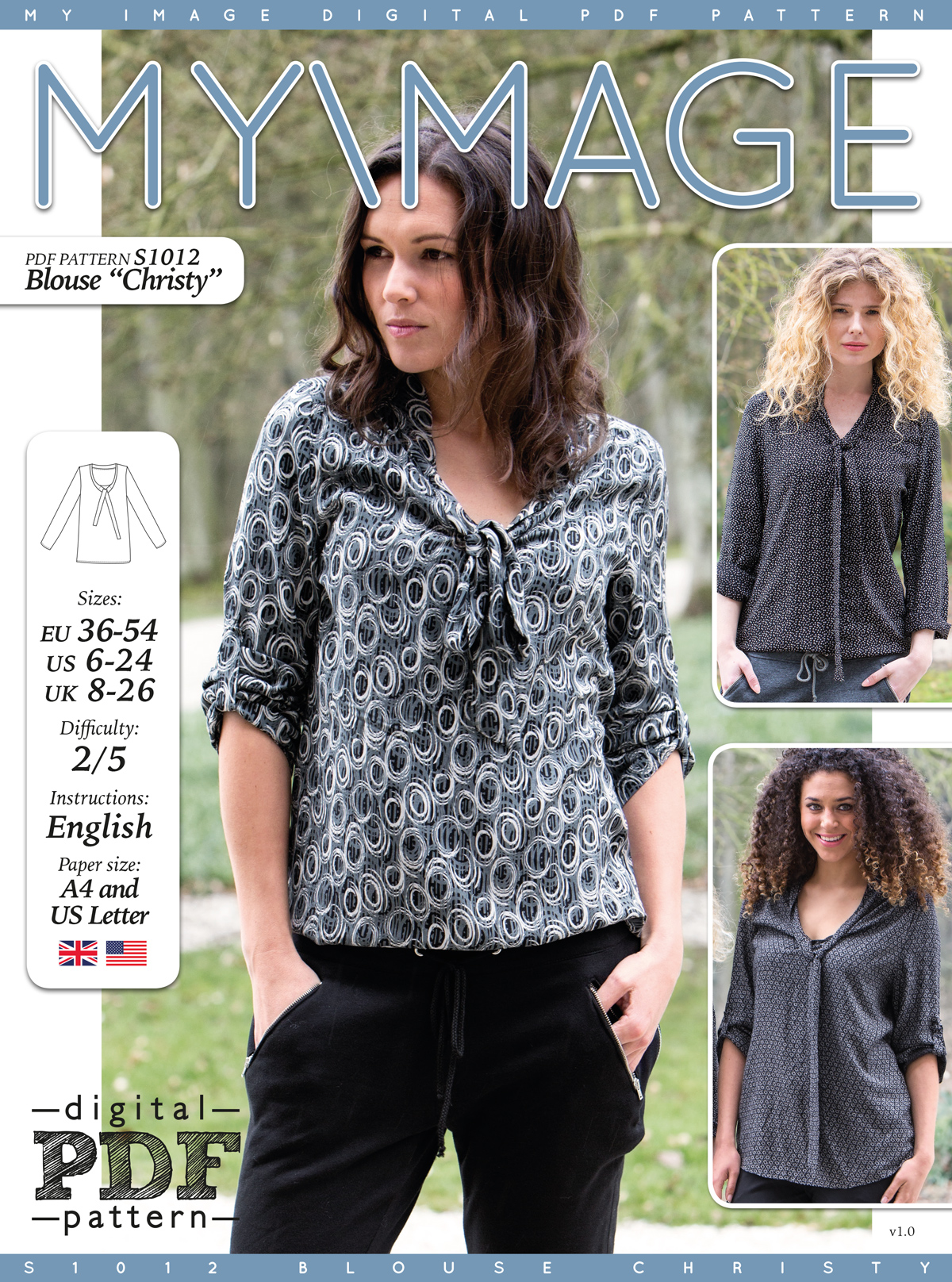 Blouse CHRISTY PDF Pattern + Tutorial