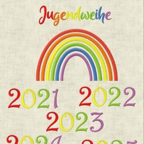 Stickdatei  Jugendweihe Regenbogen  644