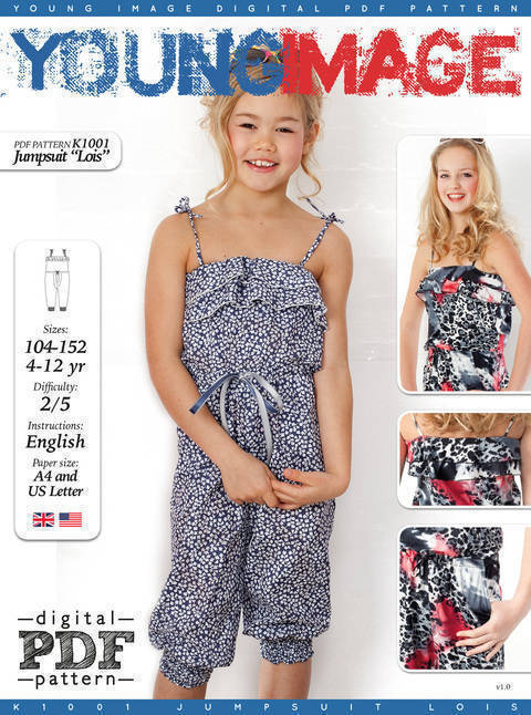 Jumpsuit LOIS PDF Pattern + Tutorial at Makerist