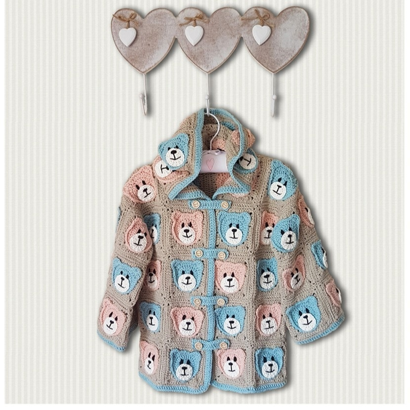 Teddybears Picnic Jacket for 2 to 4 year olds