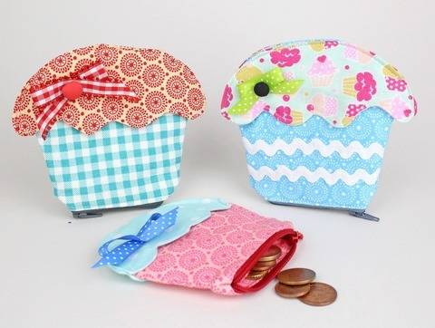 Sew Cupcake Purse | tutorial & sewing pattern at Makerist
