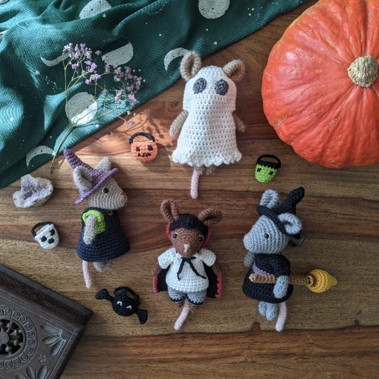 Famille Souris + collection Halloween