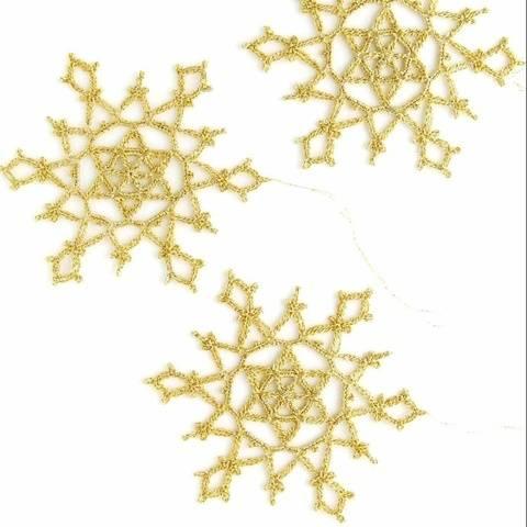 Christmas Snowflake ornament Crochet patterns