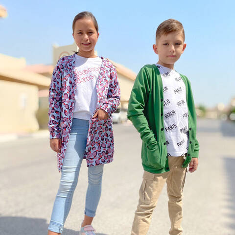 Boys and girls cardigan sewing pattern