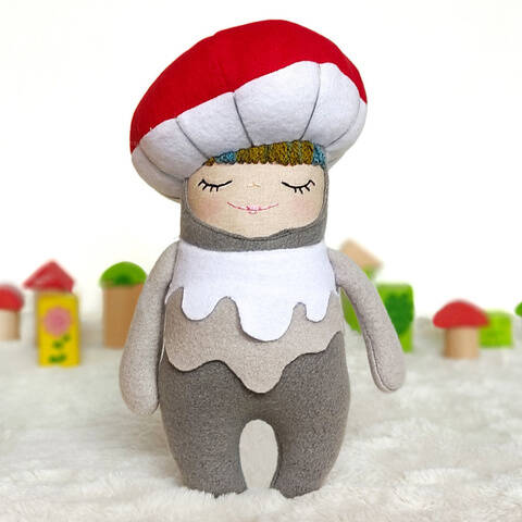 Cuddly Creatures Mushroom PDF Sewing Pattern and Tutorial