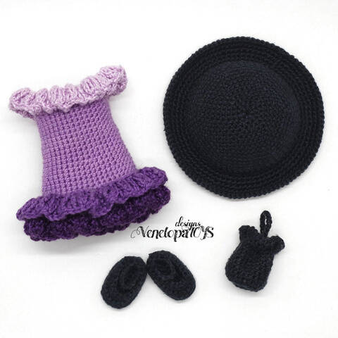 Häkelanleitung Kleidung für Puppe