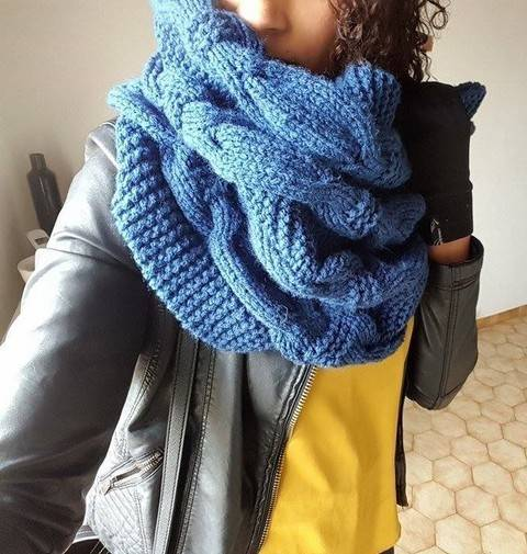 Snood géant - tricot chez Makerist