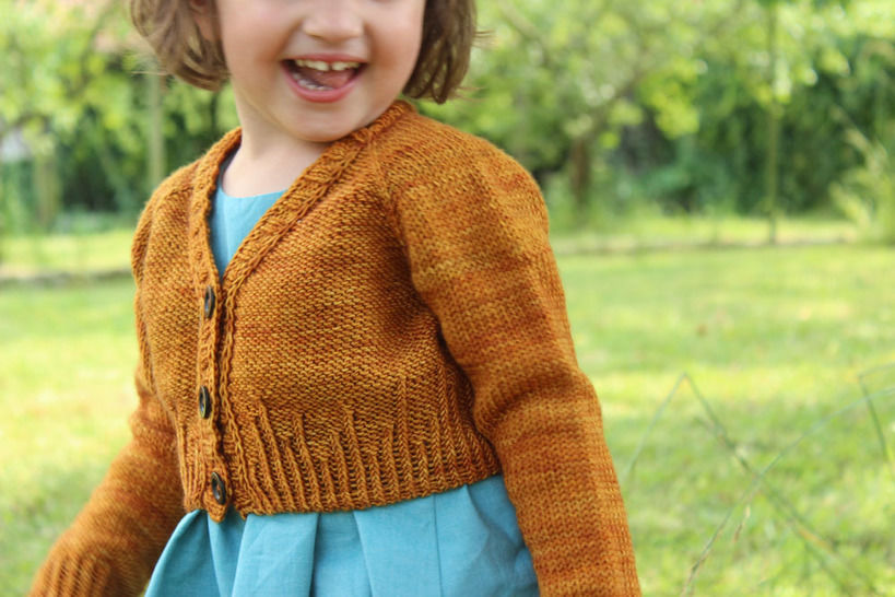 Baby short cardigan - (Mini) Agora - 3-36 months - Knitting at Makerist - Image 1