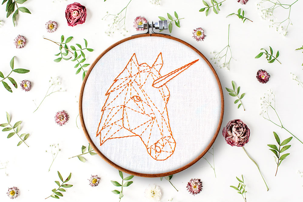 geometric unicorn + horse