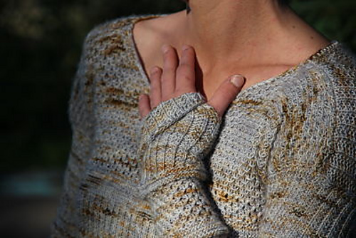 soft texture pullover - knitting