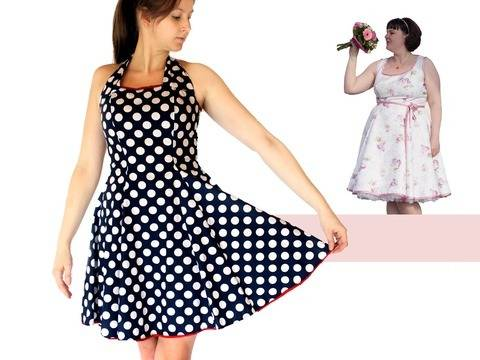 Women dress pdf sewing pattern - AnniNanni Dress at Makerist