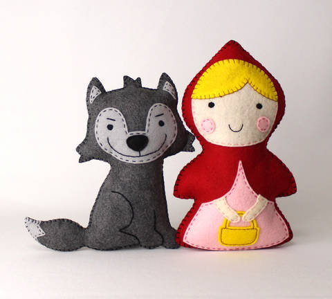 Little Red Riding Hood and the Big Bad Wolf Soft Toy Patterns at Makerist