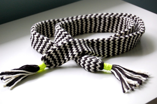 Chevron Belt - Knitting