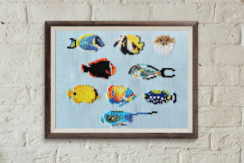 Fish 2 cross stitch pattern at Makerist