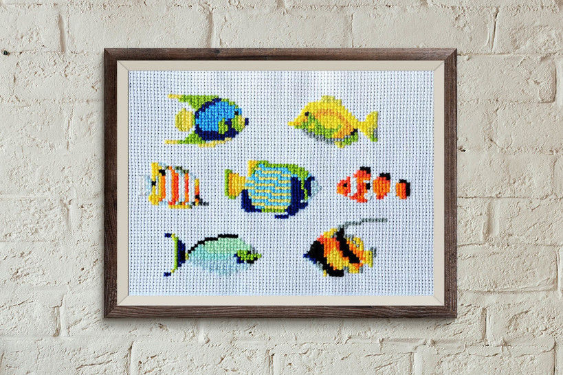 Fish 1 cross stitch pattern at Makerist - Image 1