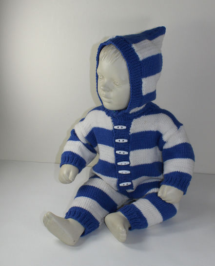 Baby Big Stripe Hoodie Onesie at Makerist - Image 1