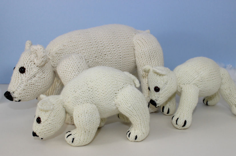 Polar Bear Family toy animals at Makerist - Image 1