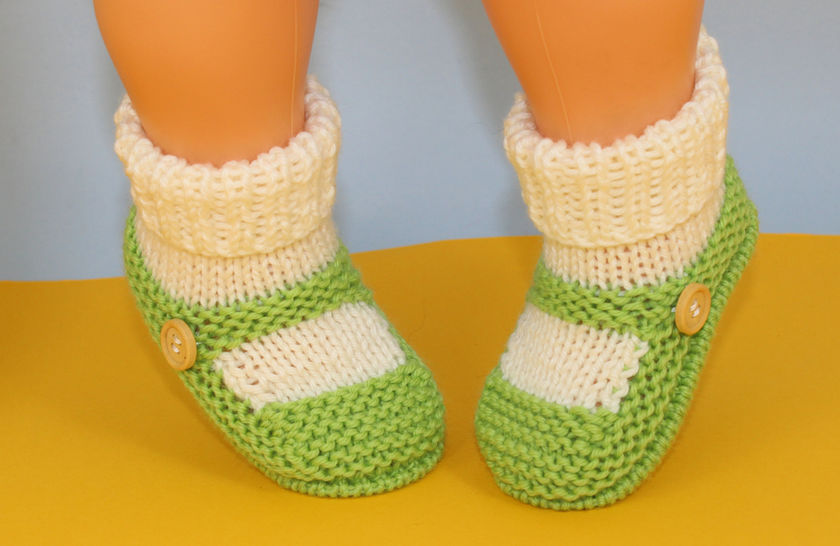 Baby One Button Sock and Slipper Booties at Makerist - Image 1