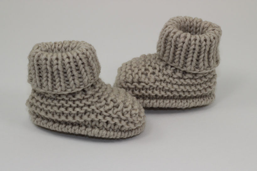 Baby Simple Rib Cuff Booties at Makerist - Image 1
