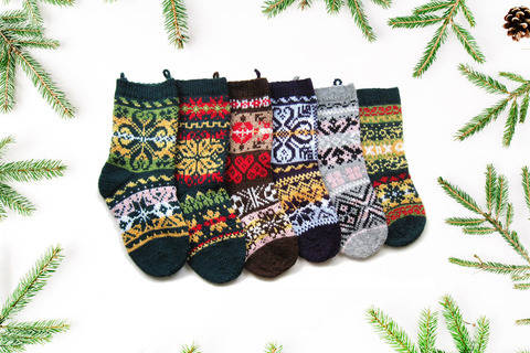 6 Norwegian christmas stockings