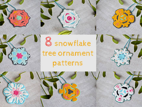 8 felt tree ornaments