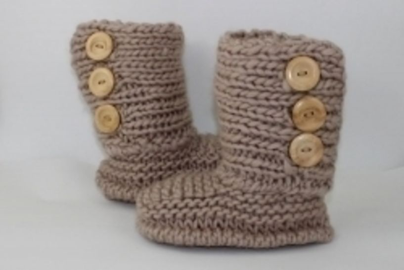 3 Button Childrens Slipper Boots at Makerist - Image 1