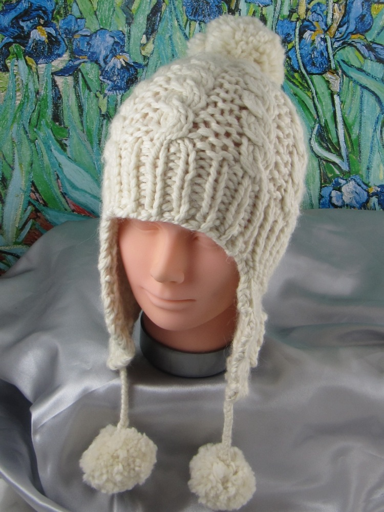 Baby Big Bobble Superfast Cable Trapper Hat