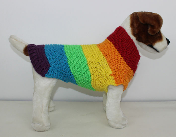 Chunky Spectrum Dog Coat at Makerist - Image 1