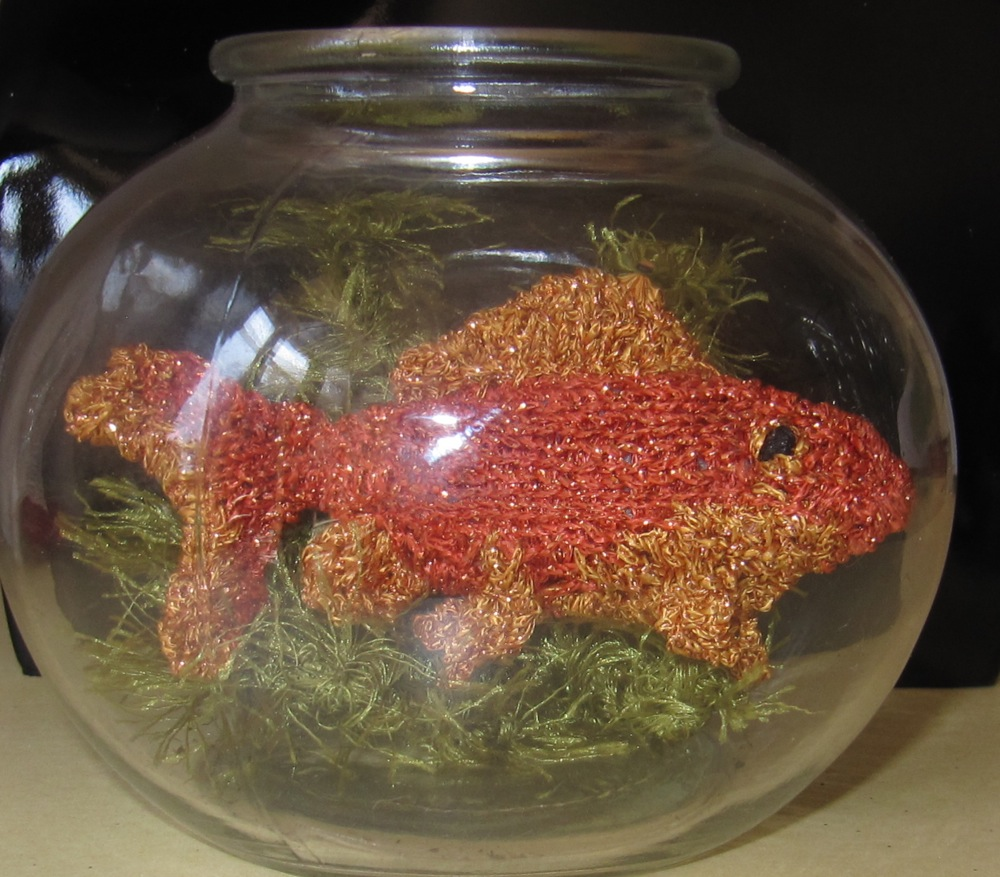 My Pet Goldfish - toy fish knitting pattern