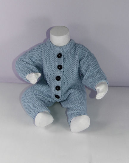 Baby Simple Aran Moss Stitch Onesie at Makerist - Image 1