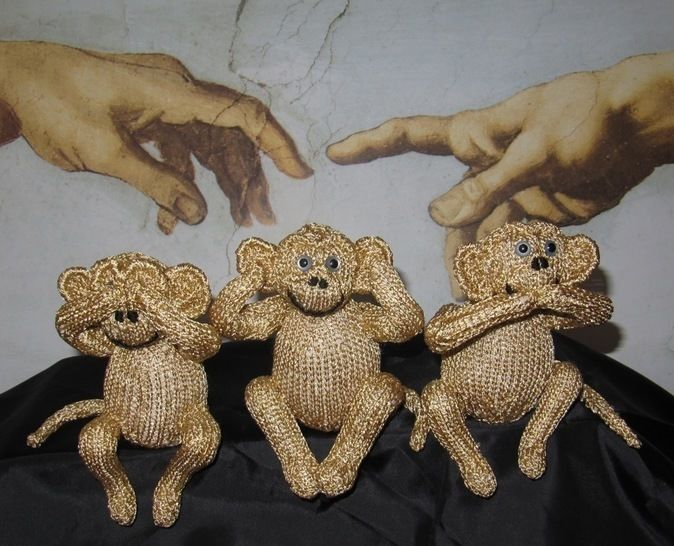 3 WISE MONKEYS at Makerist - Image 1