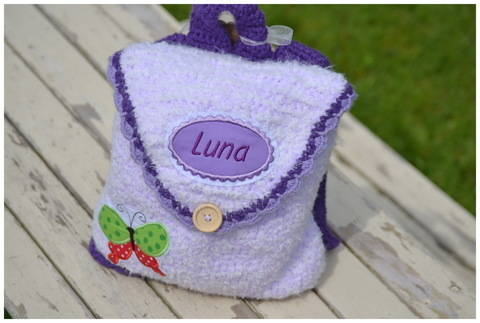 + LUNA + Häkelanleitung Rucksack für Kleinkinder