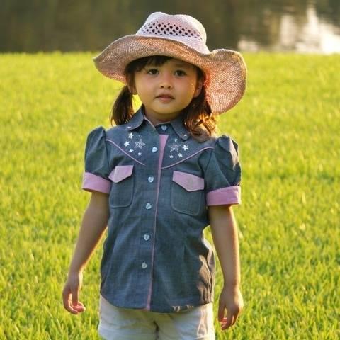 Bluse | Mädchen | Schnittmuster |PDF| Western Stil