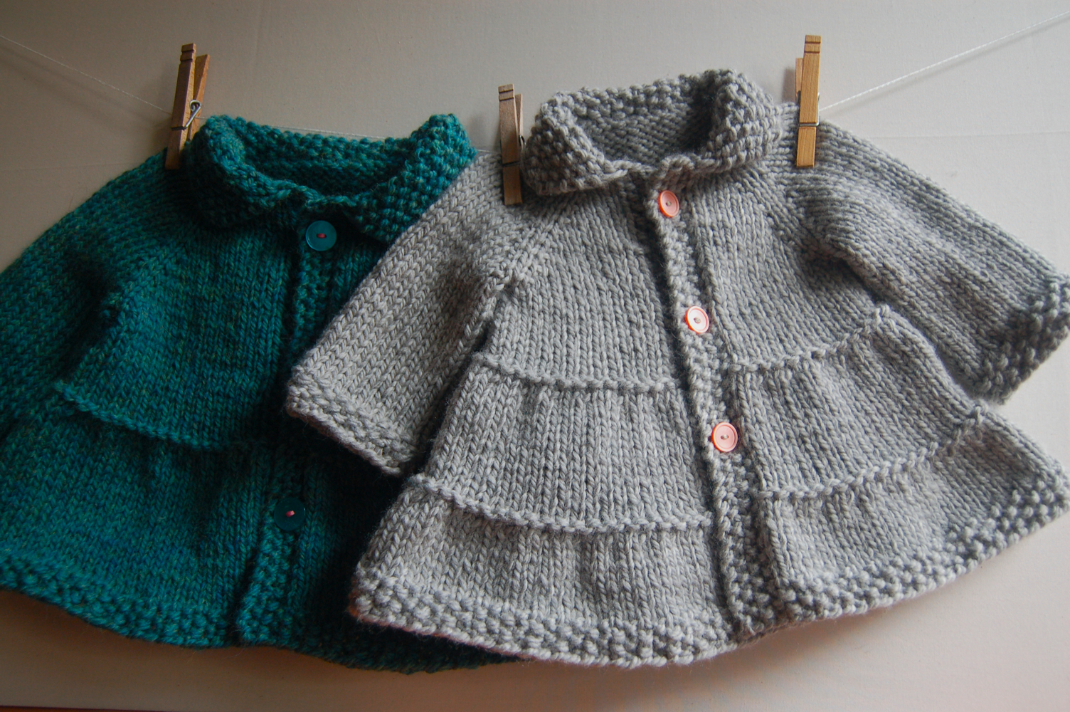 Tiered Baby and child Coat and Jacket - easy knitting pattern
