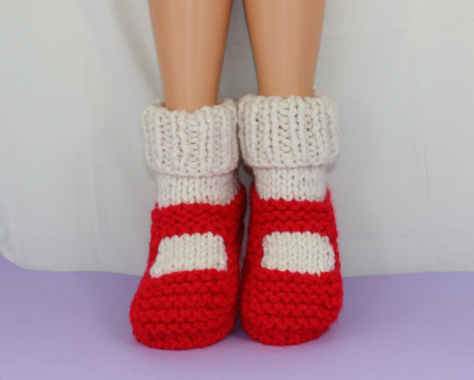 Adult Super Chunky Rib Cuff Slippers at Makerist - Image 1
