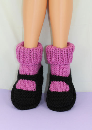 Adult Superfast Rib Cuff Sock Slippers at Makerist - Image 1
