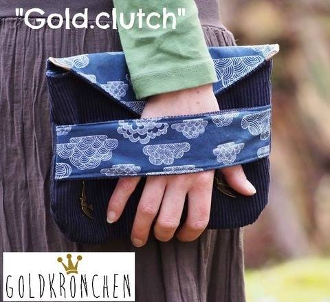 Gold.clutch Ebook, Handtasche, Tasche, Clutch