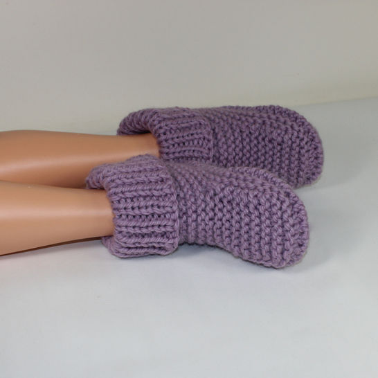 Rib Cuff Super Chunky Slipper Boots - Knitting at Makerist - Image 1