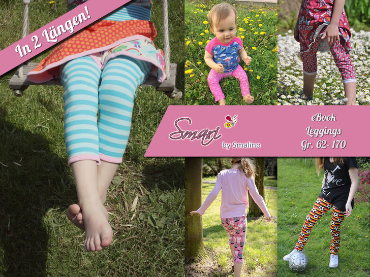 Kinder-Leggings Smari - Gr. 62/68 bis 170 bei Makerist - Bild 1