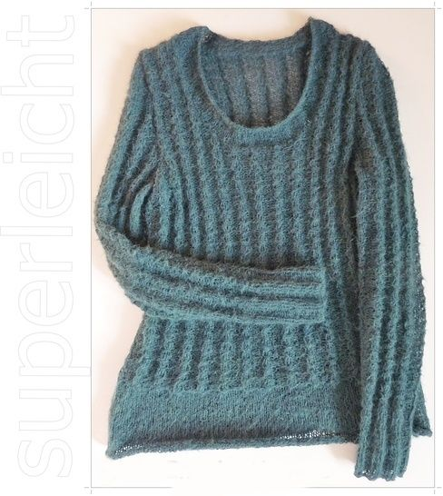 Strickanleitung, Pullover mit falschem Zopfmuster  bei Makerist - Bild 1