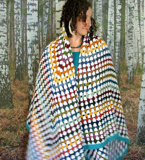 Classic Granny Square Blanket - Knitting at Makerist - Image 1