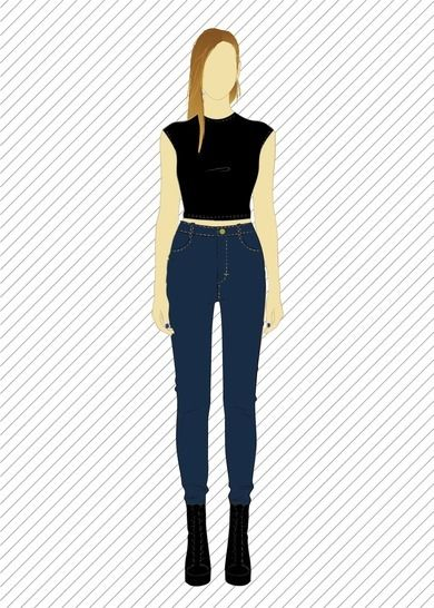 TR803 Skinny jeans - PDF sewing pattern at Makerist - Image 1