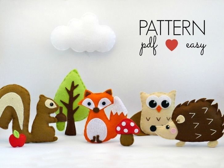 Woodland Creatures Set - Felt Sewing Patterns at Makerist - Image 1