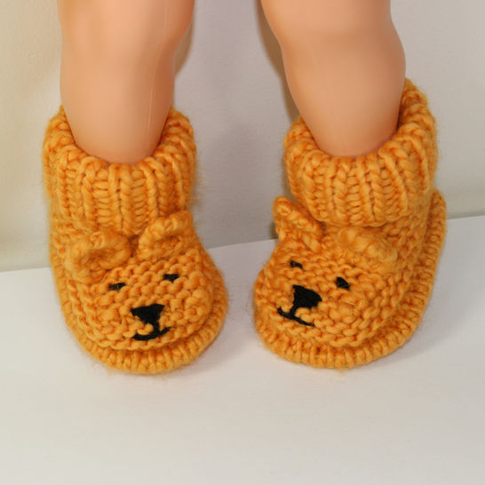 Baby Teddy Bear Booties at Makerist - Image 1