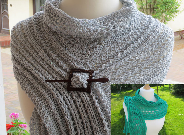 Strickanleitung Lace-Stola Grace bei Makerist - Bild 1