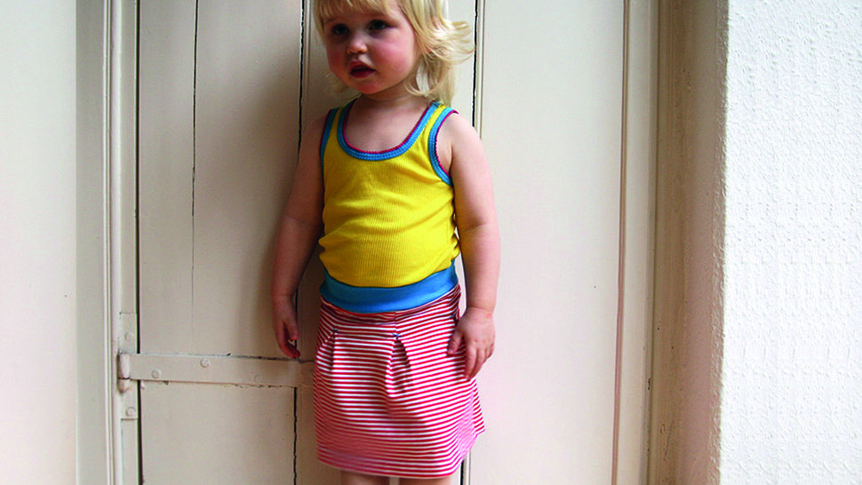 Antje - girls jerseyskirt with box pleats at Makerist - Image 1
