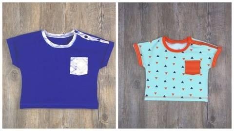 Baby T-Shirt T#1 Nähanleitung und Schnittmuster Gr. 56-92 bei Makerist