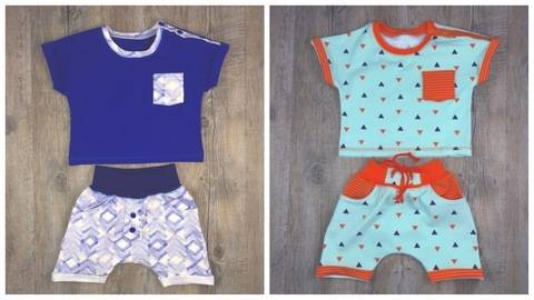 Set Babyhose H#7 + Baby T-Shirt T#1 Gr.56-92