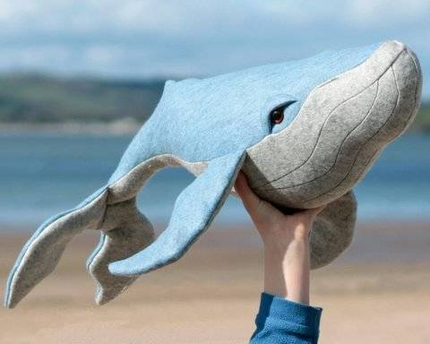 Whale toy sewing pattern - PDF instant download