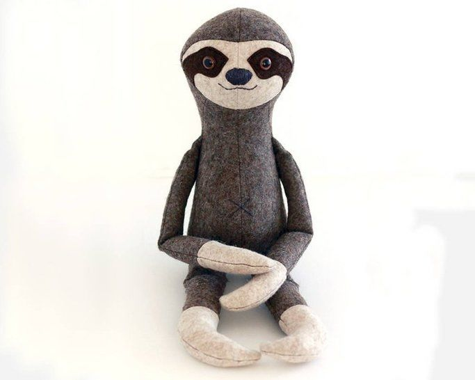 Sloth toy sewing pattern - pdf sewing pattern tutorial  at Makerist - Image 1
